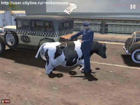 Коп штрафует корову